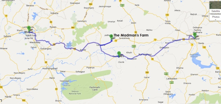 The Madman's farm on Google Map