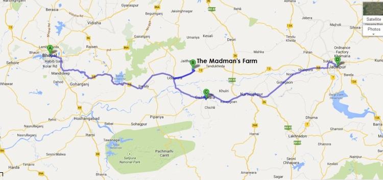 The Madman's farm on Google Map