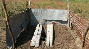 The simple compost toilet inspired from arbor loo design. Soon the walls will be replaced by bamboo structure and a lot of flowers will be planted around the toilet.